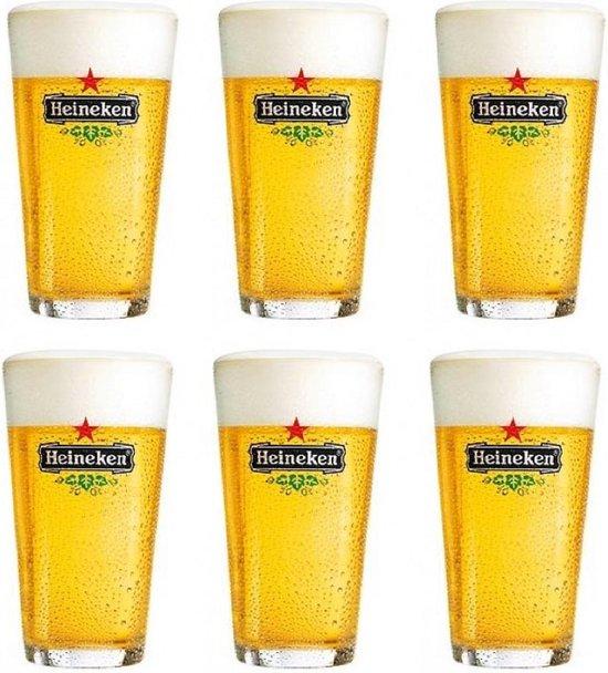 Heineken Bierglas Vaasje 25 cl - 6 Stuks