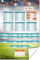 Poster - Speelschema - EK Voetbal 2021 - 40x60 cm