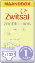 Zwitsal Luiers New Born - Maat 1 - 132 stuks - Voordeelverpakking