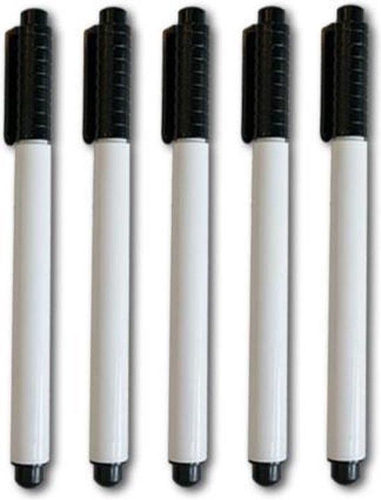 Whiteboardmarker Zwart 5 stuks
