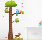 Muursticker groeimeter boom babykamer