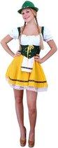 Tiroler jurk kort geel/groen L-XL