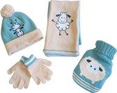 Kindergeschenkset met kruik, muts, sjaal en handschoenen