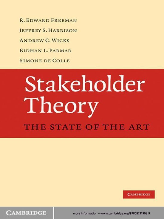 Boek cover Stakeholder Theory van R. Edward Freeman (Onbekend)