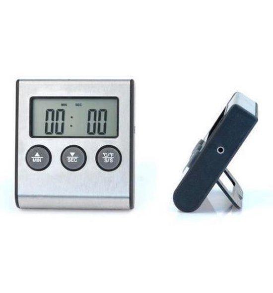 Digitale Keukenthermometer - Aluminium - Zilverkleurig / Zwart