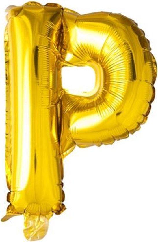ballon - 100 cm - goud - letter - P