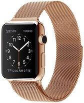 Milanees Horloge Band Voor Apple Watch Series - Rose Goud Kleurig