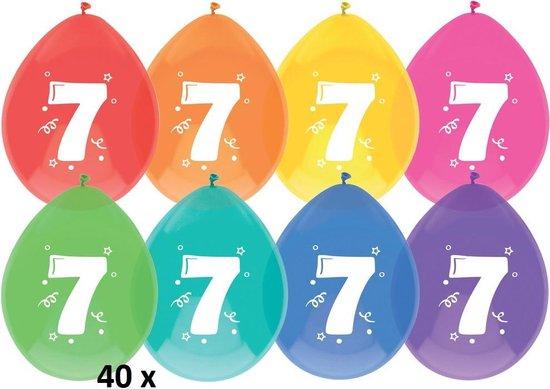 5 x ballonnen - 7 jaar - 8 stuks