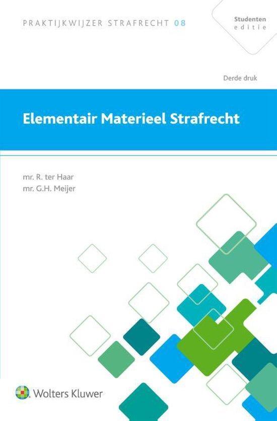 Boek cover Elementair materieel strafrecht van R. Ter Haar (Paperback)