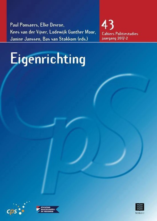 Cahiers Politiestudies 43 - Eigenrichting - none |