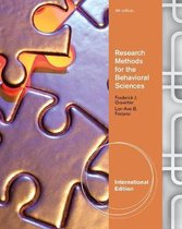 Research Methods for the Behavioral Sciences, International Edition