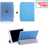 iPad 2, 3, 4 Smart Cover Hoes - inclusief achterkant - Licht Blauw