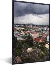 Foto in lijst - Dreigende donkere wolken boven San José fotolijst zwart 40x60 cm - Poster in lijst (Wanddecoratie woonkamer / slaapkamer)