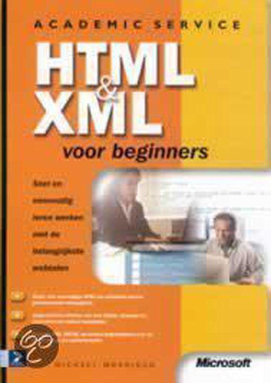 Cover van het boek 'HTML en XML voor beginners'