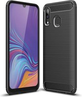 Samsung Galaxy A40 Hoesje - Armor Brushed TPU - Zwart