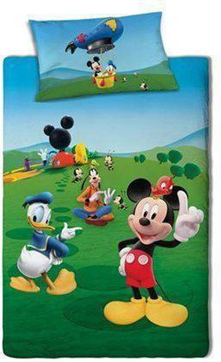 Disney Mickey Mouse - Dekbedovertrek - Eenpersoons - 140x200 cm - Multi kopen