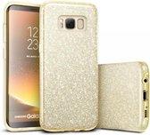 Samsung Galaxy S8 Plus Hoesje - Glitter Backcover - Goud