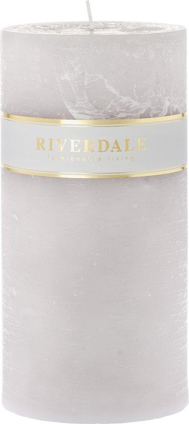 Riverdale Pillar – Kaars – 10x20cm – grijs