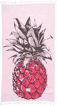 Mycha Ibiza – strandlaken – strandhanddoek – kikoy – ananas – roze – 100% katoen