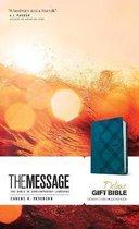 Message Deluxe Gift Bible, Denim Leather-Look