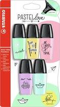 STABILO BOSS MINI Pastellove markeerstift 5 stuk(s) Groen, Oranje, Roze, Violet, Geel