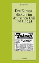 Der Europadiskurs Im Deutschen Exil 1933-1945
