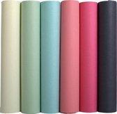 50x Exacompta kaftpapier geassorteerde pastelkleuren