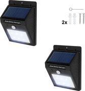 TecTake - 2* LED Solar tuinverlichting wandlamp bewegingssensor 401735