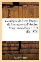 Catalogue de livres francais de litterature et d'histoire