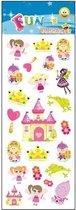 Stickervel prinsessen/feeen  31 x 11 cm - stickers