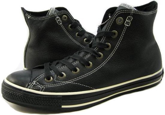 bol.com | Converse All Star Hi Leer Zwart (Black) - 1J854 - 41.5