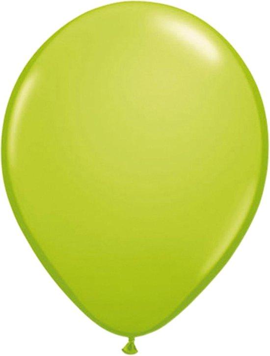 Licht groene ballonnen 100 stuks