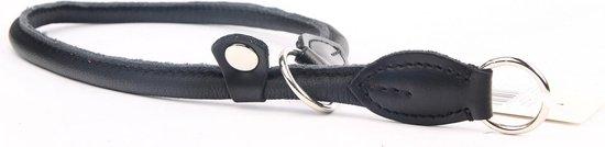 Dog's Companion Leren hondenhalsband - sliphalsband - 50 cm x 8 mm - Zwart