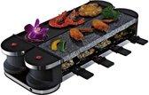 Suntec Raclette RAC-8069 Flex 8 metaal Stone, Gourmetstel, Voor 8 Personen, Stenen Plaat & Grill, 180 °, Max. 1400 Watt