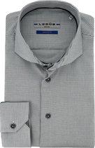 Ledub overhemd tailord fit antraciet, maat 38
