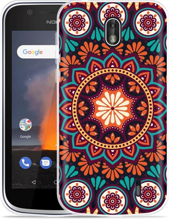 Nokia 1 Hoesje Retro Mandala