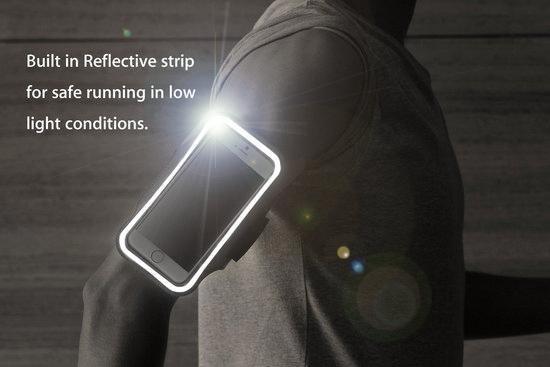 MMOBIEL Sport / Hardloop Armband voor iPhone 12 Mini/ SE 2020 / 8 / 7 / 6S / 6 - Lengte 140 mm & Breedte 75 mm - Zwart