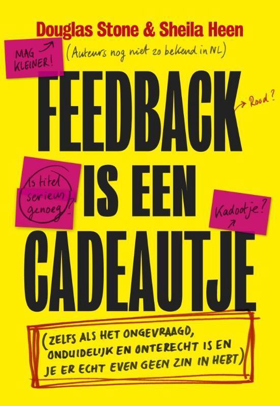 Feedback is een cadeautje - Douglas Stone | Readingchampions.org.uk