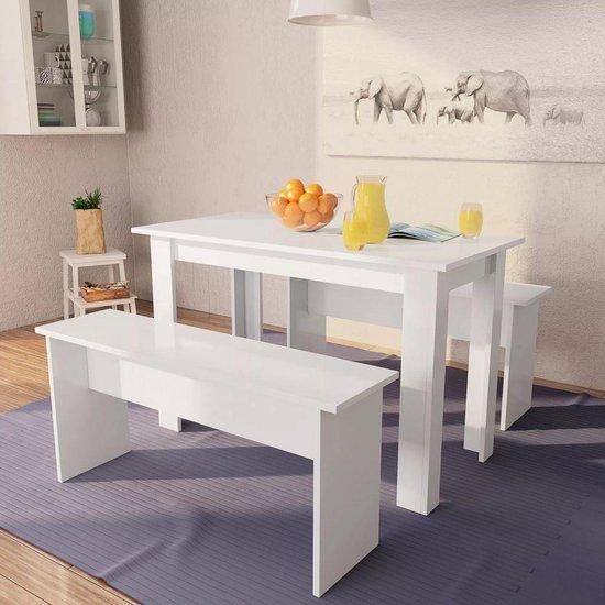 Spiksplinternieuw bol.com | Eettafel met bank set loungetafel tafel eettafelbank HH-77