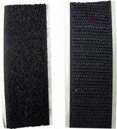 Klittenband zelfklevend zwart  - klitttenband zelfklevend 100 cm