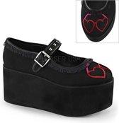 Demonia Lage schoenen -38 Shoes- CLICK-02-1 US 8 Zwart