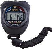D-Sports Stopwatch - Grote Display - Waterdicht - Zwart