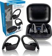 Grundig Oortjes - Draadloos - Bluetooth - met Microfoon - TWS - Sport - Zwart