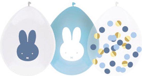 Ballonnen - Nijntje - Baby blauw - 5st.