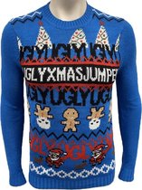 Foute Kersttrui Heren / Mannen - Christmas Sweater - Ugly Xmas Jumper Blauw - Kerst Trui Maat XXL