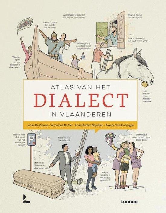 Boek cover Atlas van het dialect in Vlaanderen van Johan de Caluwe (Hardcover)