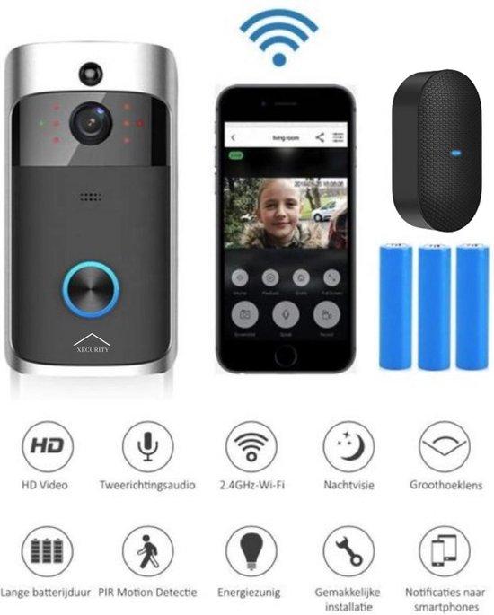X-one Xecurity Deurbelset - HD WIFI Video deurbel draadloos met camera - Grey