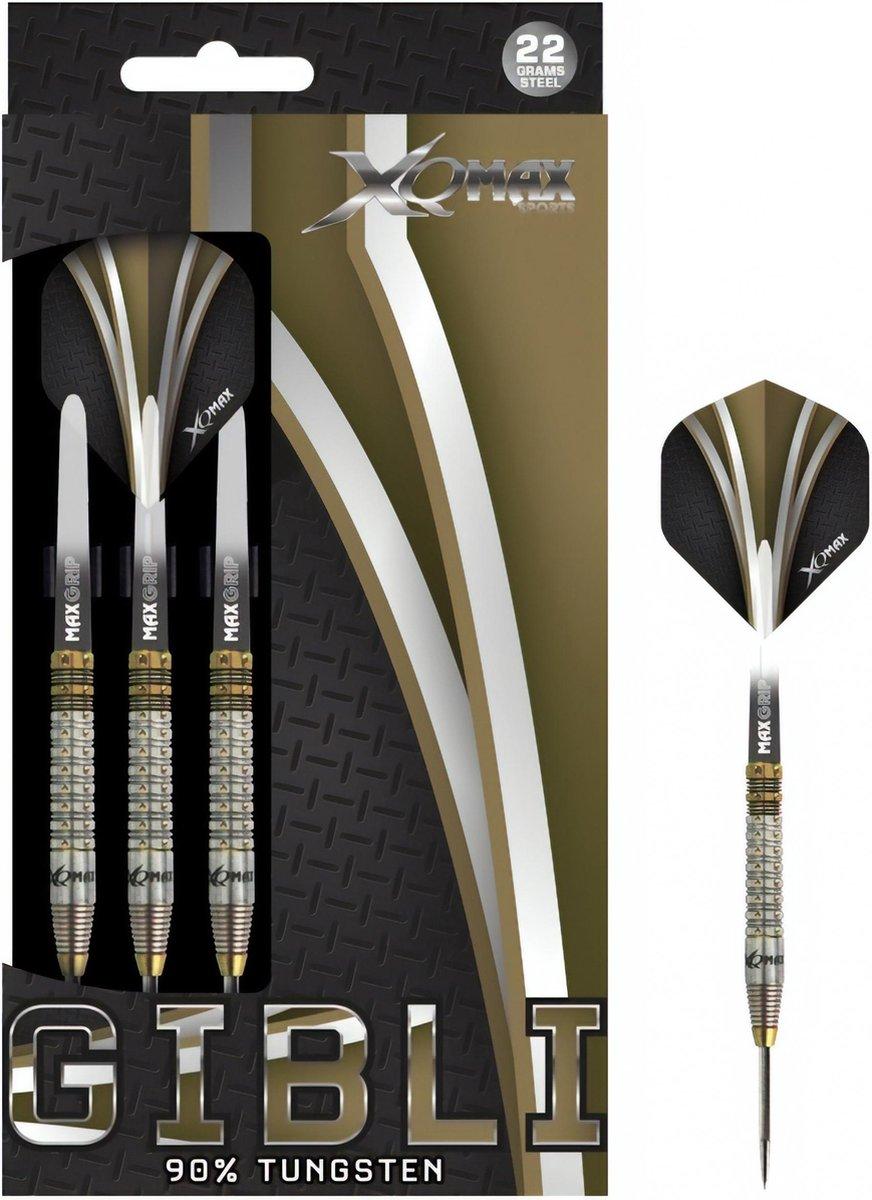 XQ Max - Gibli - darts - 24 gram - dartpijlen - 90% tungsten - steeltip