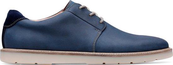 Clarks - Herenschoenen - Grandin Plain - G - navy leather - maat 10