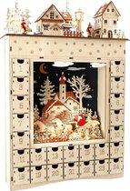 Small Foot Company Winterdroom Adventskalender - 34 x 52 Cm - Hout - Beige